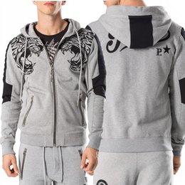 Wholesale Cardigan Big Size - Crystal Embroidery Tiger Head Tracksuit Man Printed Letter Sweat Set Men's Fashion Design Big Size 3XL