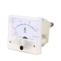 Wholesale Panel Meters - Wholesale-DC 30A Analog Ammeter Panel AMP Current Meter 0-30A DC Doesn't Need Shunt Stock Offer