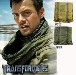 Wholesale Shemagh Tactical Desert Scarf - 110*110CM New Military Windproof Muslim Hijab Shemagh Tactical Desert Arabic Keffiyeh Scarf Cotton Wargame Scarf CCA5214 50pcs