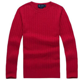 Wholesale Men S Turtle Neck Sweater - Free shipping 2017 new high quality mile wile polo brand men's twist sweater knit cotton sweater jumper pullover sweater Small horse game