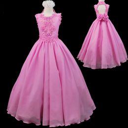 Wholesale National Glitz Dresses - PINK GIRLS NATIONAL PAGEANT GLITZ FORMAL PARTY LONG DRESS CUSTOM MADE 2017