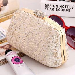 Wholesale Diamante Craft - Moonlight Flower Lace Clutch 2016 new female bag party hard evening bag fashion handbags clutch bag craft bag dress