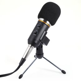 Wholesale Usb Microphone Clip - New Audio Sound Recording Condenser Microphone With Shock Mount Holder Clip Black Available 3.5mm USB Dual Cable Micro