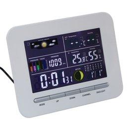 Canada Freeshipping Numérique LCD Affichage Sans Fil Électronique Température Humidité Compteur Station Météo Intérieur Extérieur Thermomètre Humidité Offre