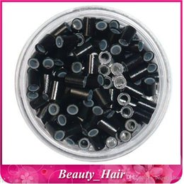 Wholesale Copper Links For Hair Extensions - 5000pcs 3.5mm 5pcs lot Copper Tube Micro Rings Tubes Rings Links Beads for Stick Tip Hair Extensions