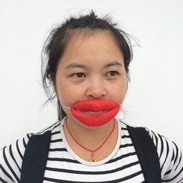 Wholesale Sexy Mask For Carnival - New Arrival red mouth Carnival sexy woman costume Halloween Party Mask funny gift clown lips free shipping