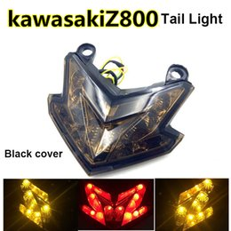 Wholesale Integrated Tail Light - Integrated LED Tail Light Turn Signals Brake Light For Kawasaki Z800 Z125 With Somked Black Clear Red Cover