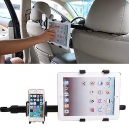 Wholesale Headrest Holder For Ipad - Wholesale 2 in 1 Universal Car Back Seat Headrest Mount Holder Stand Bracket tablet stand Kit 7-10 Inch For iphone6 samsung For iPad 4 air