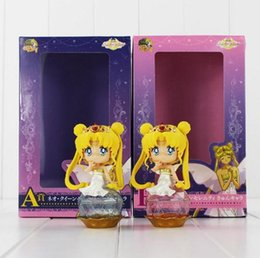 Wholesale Chose Doll - Sailor Moon Q Posket Queen Jupiter Venus Pluto Sailor Moon Action Figure Dolls 2 styles you can choose 11CM Free Shipping