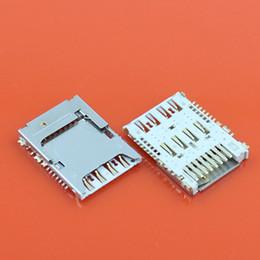Wholesale Mega Apple - Wholesale-10pcs sim card reader+memory card socket for Samsung Galaxy Note 3 N900A N900 for Mega 6.3 Galaxy I9200 I9205 I9208