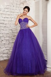 Wholesale Mature Sweetheart - Hot Sale Ball Gowns Quinceanera Dresses Sweetheart Sparkling Crystals Beading Sequins Floor Length Mature Gowns Quinceanera Dresses
