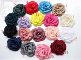 """Wholesale Hair Color Edges - 2.35"""" Burned Satin Flowers, satin rose, burned rose, burned edges flower- you choose colors 50pcs lot"""