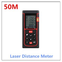 Wholesale Tools Measuring Area - Wholesale-Handheld Laser Distance Meter Digital Laser distance meter Rangefinder Bubble level Tape measure Area volume build Angle tool