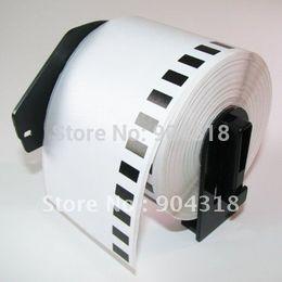 Wholesale Dk Labels - Wholesale-100 x Rolls Brother Compatible Labels DK-22205, 62mm x 30.48m, Continuous Paper Labels,with Reusable Frame,DK 22205,DK 2205
