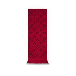 Wholesale Scarf Two Sides - Luxury Brand Winter LOGOMANIA SHINE Scarf Women and Men 100% Two Side Black Red Wool Scarf Fashion Women 2017 Designer Warm Flower Scarves