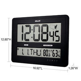 Wholesale Time Map - Baldr Jumbo Digital Wall Clocks With Big Time Display Time Zone Map Calendar Function Temperature and Humidity Display