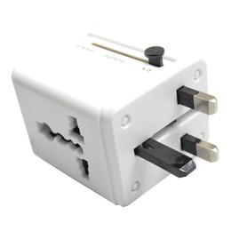 Wholesale Uk Travel Power Adaptor Usb - Universal International Plug Adapter All in One 2 USB Port World Travel AC Power Charger Adaptor AU US UK EU converter Plug