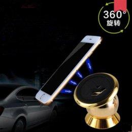 Wholesale Dvr Logo - Universal Magnetic Car Phone Holder 360 Degrees Rotation Holder For iPhone 6s Plus Samsung S6 s5 Support GPS DVR Stand Car LOGO