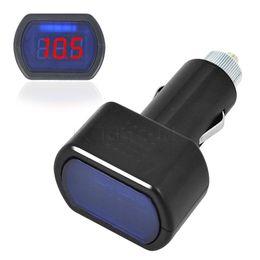 Wholesale Battery Monitor Indicator - New Car Battery Voltage Meter Monitor Tester DC12V 24V Car Digital with LCD Digital Voltmeter Gauge Electric Monitor Indicator