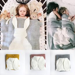Wholesale Snap Boy - Bunny Ears Baby Blanket For Kid Girl Boy Toddler For Snap Cotton Quits Muslin Towels For Air Conditioner