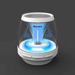 Wholesale Car Audio Led Lights - Wireless Bluetooth Speakers Powered Subwoofer LED Light Support TF Card FM MIC Mini Digital Speaker car hands-free calls M28 MIS161