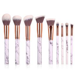 Wholesale horse kits - 10pcs Set lot Cosmetic Makeup Brushes Soft Horse Hair Facial Beauty Foundation Blusher Eye Shadow Brushes Make Up Beauty Tool Kit