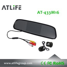 Wholesale Rearview Wired Camera - 4.3 inch Car Back Up Camera System Wired HD Rearview System Mirror Monitor Reversing KIT