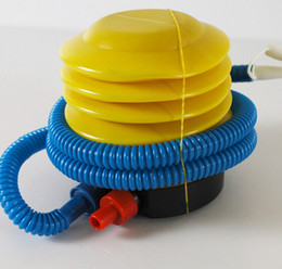 Wholesale Wholesale Air Foot Pumps - Blue Yellow Plastic Hand Foot Pump Inflator for Air Toys