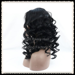 Wholesale Cheap U Part Lace Wigs - Loose Wave Lace Front Human Hair Wigs Wavy curly 130% thick Density In Stock Cheap Lace front U Part Wig With Baby Hair For Women