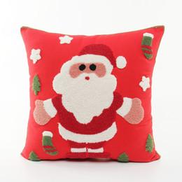 Wholesale snowflake cushions - Snowman Santa Claus Cushion Cover 45X 45Cm Christmas Festival Pillow Case Snowflake Pillow Cover Home Bedroom Decoration