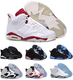 Wholesale New Silver Chrome - New cheap air retro 6 black cat Hare Carmine White Infrared Angry bull sport blue Oreo Olympic Maroon Chrome men basketball shoes sneakers