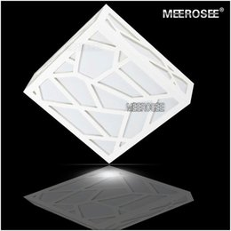 Wholesale Ceiling Lights Cube - Modern LED White Ceiling Lights Lamp Polymer Wood Carving Water Cube(AC85~265V) Square Aisle Ceiling Lamp Hallway Porch Light