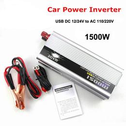 Wholesale Modified Sine - 1500W USB Car Charger Car Power Inverter DC 12V 24V to AC 110V 220v Car Power Converter Adapter Transformer Modified Sine Wave