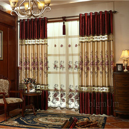 Wholesale Wholesaler Curtains - Free shipping Embroidered pastoral curtain   Blackout Curtains For Living Room Bedding Room  Drapes Custom-made