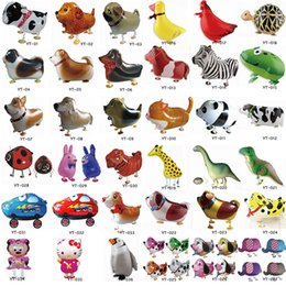 Wholesale Cheap Gifts Toys - 100 PCS Lot Cheap Walking Animal Balloon Inflatable Foil Cartoon Walking Pet Balloon Party Decoration Toys Gifts For Kids