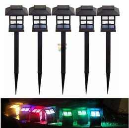 Wholesale Outdoor Led Post - Waterproof Cottage Style LED Solar Garden Light Outdoor Garden Path Lawn Post Lamps Decoration Landscape Lighting