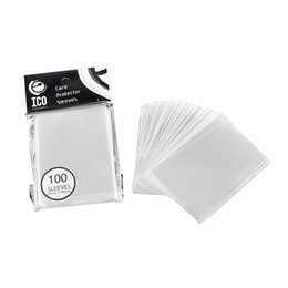 Wholesale Card Game Magic - 100pcs pack 65*90mm Card Sleeve Cards Protector Magic Killers of Three Kingdom Football Star Card Transparent Unsealed Game Sleeves 2507002