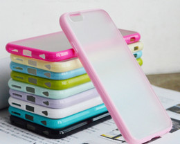 Wholesale Gel S4 - For Iphone 6 7 plus Matte PC+TPU Soft Clear Transparent Gel Cover Cases For iphone 5 5S Galaxy S6 S5 S4 Not 4 3 Bumper Case