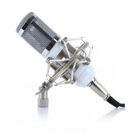 Wholesale computer records - Wholesale New BM-800 Condenser Microphone Sound Recording Microfone With Shock Mount Radio Braodcasting Microphone For Desktop PC bm800