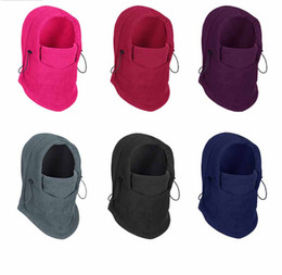 Wholesale Pink Ski Hats - winter warm Fleece beanies hats for men skull bandana neck warmer balaclava ski snowboard face mask