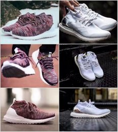 Wholesale Women Snow Boots Size 11 - Ronnie Fieg KITH x Ultra Boost Mid Primeknit Multicolor White Mid Consortium Uncaged Running Shoes Street Fashion US Size Women 5-11 Men