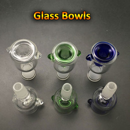 Wholesale round glass bowls - 10mm 14mm 18mm Glass Bowl Female Male 14.4mm 18.8mm Glass Bowls With Honeycomb Screen Round Bowl Ash Catcher Glass Smoke Bong