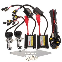 Wholesale Dual Beam Xenon H4 - New Arrival H4 35W 6000K Bi-Xenon Dual Beam Kit Slim Ballast Car Light For DC 12V