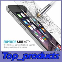 Wholesale Cheap Iphone 4s Screen - Best For Apple IPhone IPhone 7 Screen Protector Cheap For IPhone 6 Glossy Tempered Glass 9H Hardness Anti-Scratch Samsung S6 Film