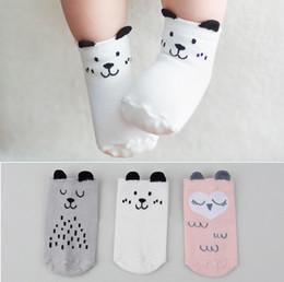 Wholesale stereo socks - South Korea Stereo Ear Socks Spring Autumn Baby Toddler Infant Kids Cotton Non-slip Children Socks Baby Short Socks HH-S13