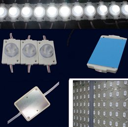 Wholesale lighted sign channel letters - 2W High Power LED Injection Module Light With Lens DC 12V Sidelight LED Modules For LED Sign Light Box LED Channel Letters Backlight