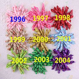 Wholesale Loopy Boutique Hair Bows - 24pcs Xmas bows clip loopy bow flower hair accessories kids Grosgrain Ribbon boutique baby girls headband