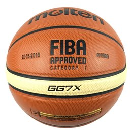 Wholesale Net Needle - Hotest Official Size 7 Molten GG7 GG7X Men's Basketball Updated PU Leather Homme Basketball Ball With Basket Ball Net&Needle