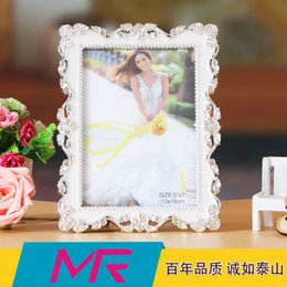 Wholesale Embroidered Lace Material - 7 inch 10inch and 12 inch rectangle photo frame rectangle Alena photo frame ABS eco - friendly material with lace embroidered