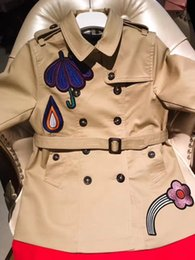 Wholesale Baby Girl Trench Coats - free shipping 2017 Autumn Baby Girls Jacket For Girls Windbreaker Jacket Kids Girls Trench Coat Children Outerwear Clothes